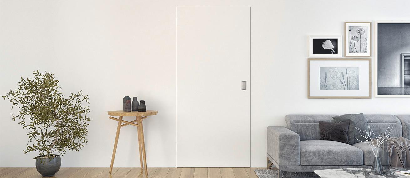 Flächenbündige Tür für die Trockenbauwand