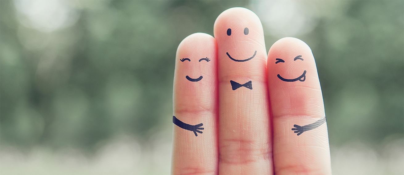 Touch to open - Finger glücklich